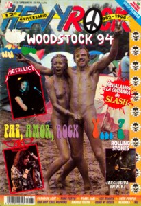 Histórica portada de Heavy Rock del Woodstock del '94