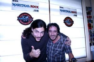 Ñako Martínez y El Enano en los estudios de radio de Mariskalrock