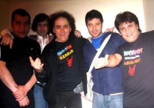 El Mariskal con la banda en Buenos Aires