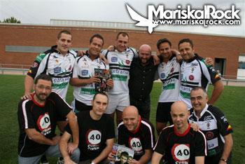 Parte del Team de El Salvador con los cuatro Celtas (Cifu, Alberto Oscar, Goyo, el quinto celta Edu Pérez y el mentor y estrella local Gonzalo Herreros