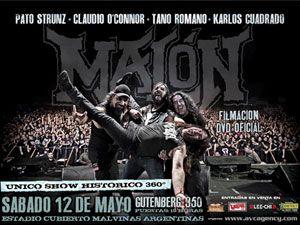 Cartel oficial del concierto del 12 de Mayo en el estadio Malvinas