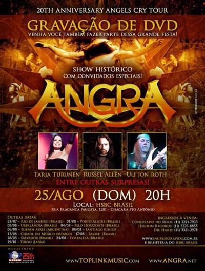 Angra, concierto 20º aniversario 'Angels Cry'