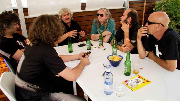 Leño, Kike Babas y Kike Turrón, durante la entrevista con Juan Destroyer
