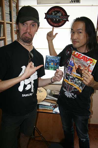 Herman Li y Sam Totman (Dragonforce) en Mariskalrock Radio