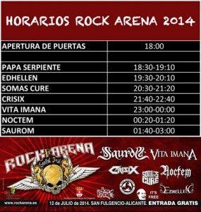 Horarios de Rock Arena 2014