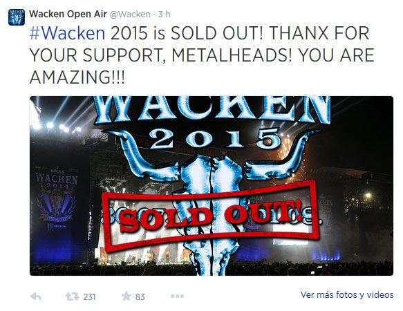 Sold out de Wacken 2015