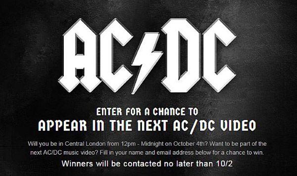 AC/DC graba videoclip en Londres