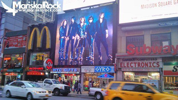 X Japan en las calles de New York
