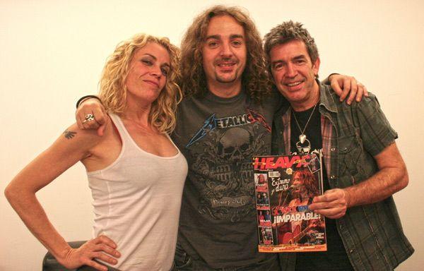 Agnes Castaño y Alfredo Piedrafita de Miss Octubre con Juan Destroyer