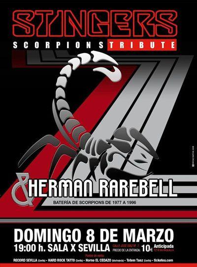 Stingers con Herman Rarebell en Sevilla