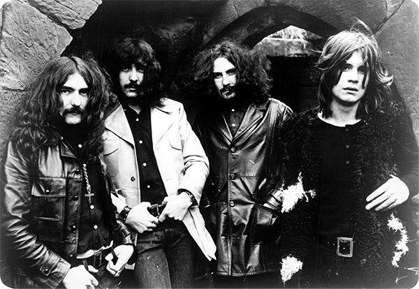 Black Sabbath en 1970. De izquierda a derecha: Geezer Butler, Tony Iommi, Bill Ward y Ozzy Osbourne.