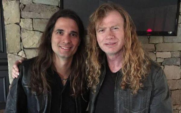 Kiko Loureiro y Dave Mustaine tras la confirmación del ingreso en Megadeth