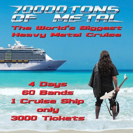 Cartel del crucero 70000 Tons of Metal de 2016