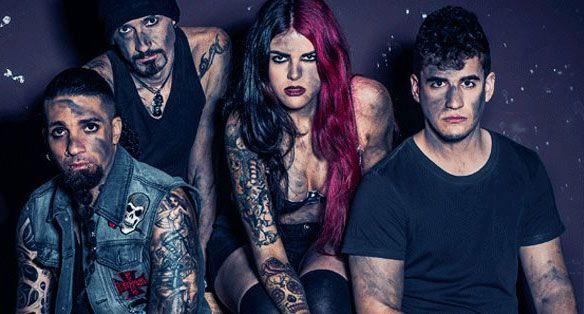 La formación de la banda Megara, de izquierda a derecha: Pol (Batería), Rober (Guitarras), Kenzy (Voz) y Pablo (Bajo)
