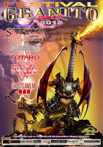 Festival GranitoRock 2015. Saratoga, Sacramento, Synlakross, Kill Them With A Toaster, Cotard, Ghost And Me
