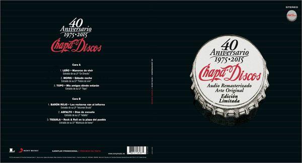 Vinilo recopilatorio de Chapa Discos por Sony Music. Uso exclusivamente promocional