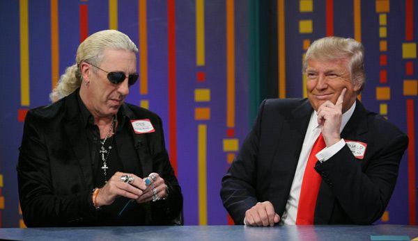 Dee Snider con Donald Trump en un programa televisivo
