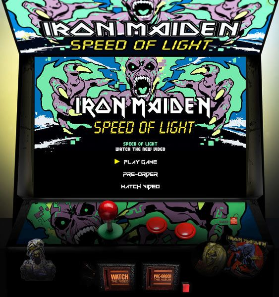 "La recreativa de ""Speed of Light"", el videojuego de Iron Maiden"