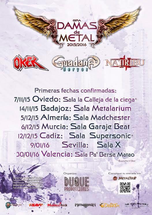 El gran tour con bandas españolas de heavy metal con vocalista femenina al frente