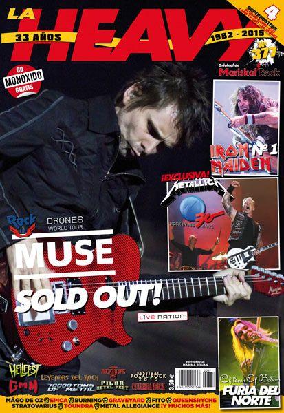 Portada de La Heavy 377 de MariskalRock con Muse, Iron Maiden y Metallica