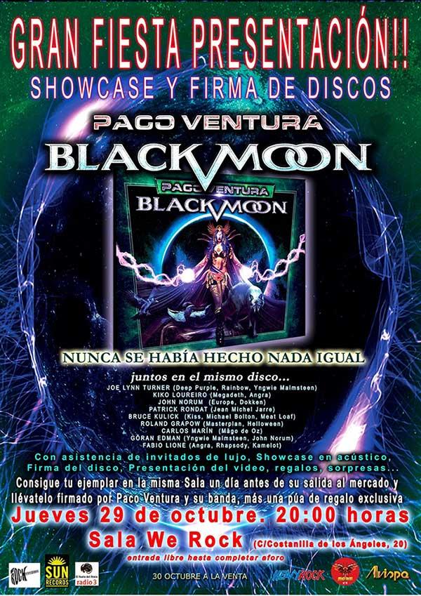 Fiesta de presentación de Paco Ventura Black Moon