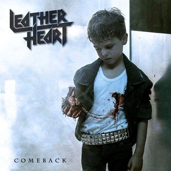 Portada del primer LP de Leather Heart 'Comeback'