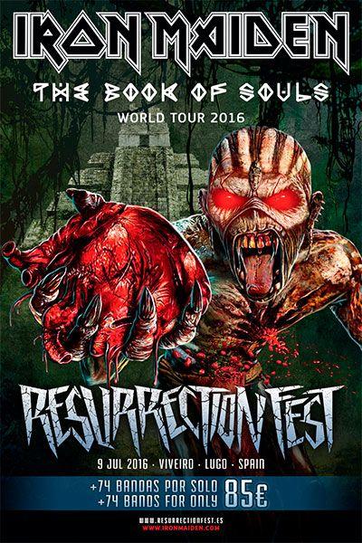 Iron Maiden confirmado para el Resurrection Fest Bruce Dickinson y los suyos aterrizarán en Galicia por primera vez en 13 años para encabezar el cartel del Resurrection Fest, con Volbeat, The Offspring y más.