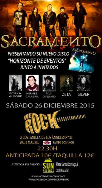 Sacramento reventar la sala we rock el 26 de diciembre for Sala we rock