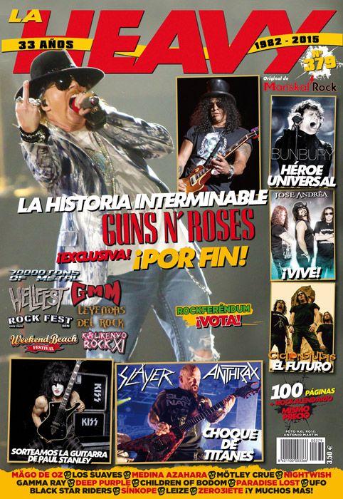 Portada de La Heavy 379 con el regreso de Guns N' Roses en portada
