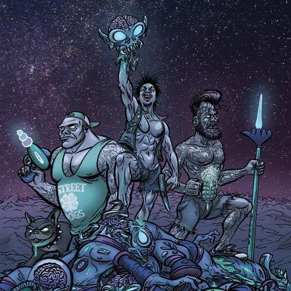 Portada del nuevo lanzamiento de Junkstars 'This Means War'