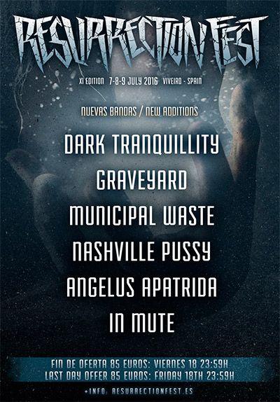 También tocarán en Viveiro, Municipal Waste, Nashville Pussy, Angelus Apatrida e In Mute