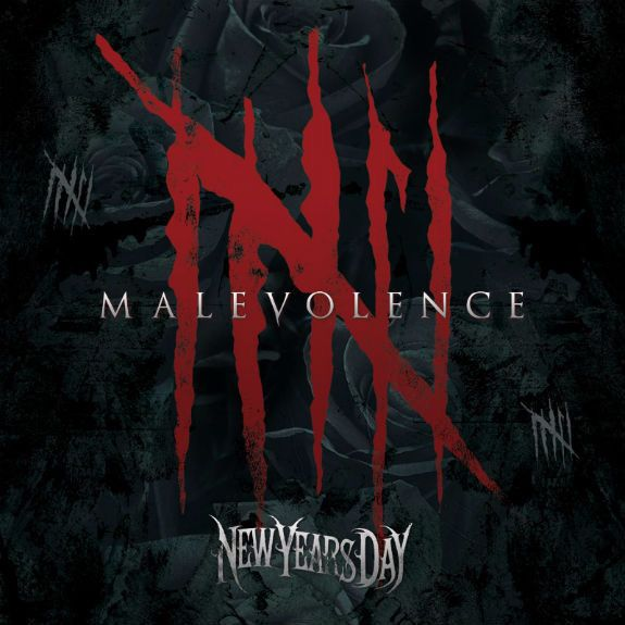 Portada del nuevo trabajo de New Year's Day 'Malevolence'