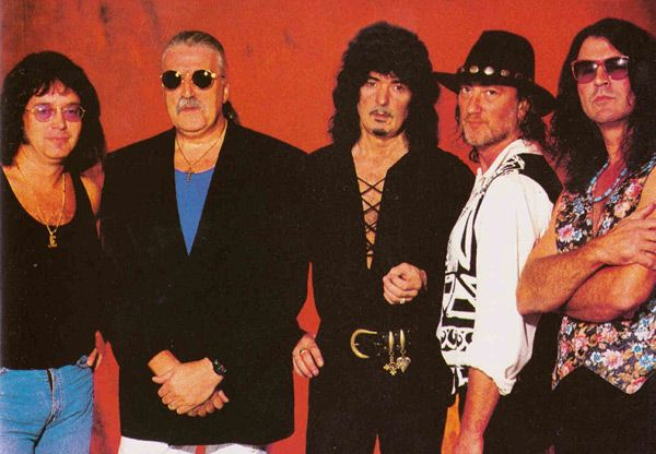 Deep Purple 1993. el final del Mk II: Ian Paice, Jon Lord, Ritchie Blackmore, Roger Glover, Ian Gillan