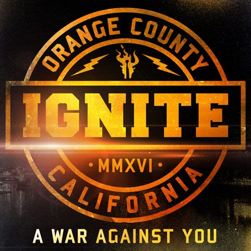 Portada del nuevo disco de Ignite: 'A War Against You'