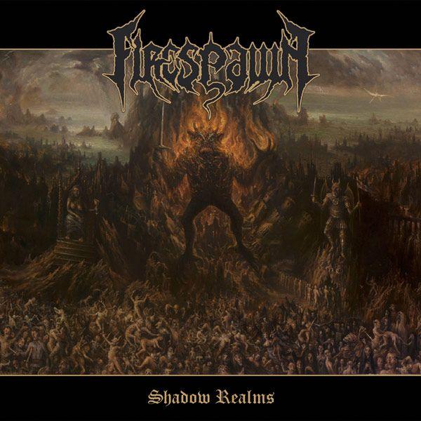 Portada de Firespawn 'Shadow Realms' (2015)