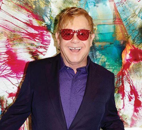 Foto promocional del último disco de Elton John (2016)