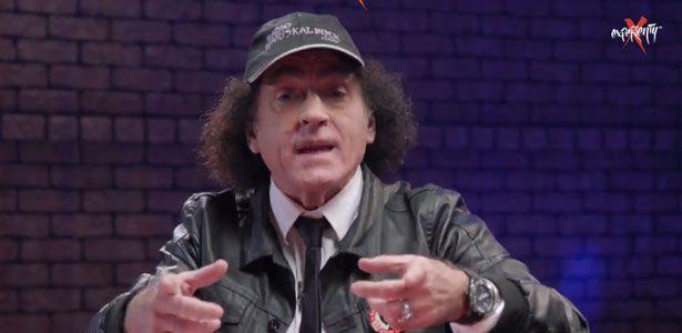 Mariskal Romero en un fragmento del último programa de Rock Palace, el sexto, emitido en Experienty TV