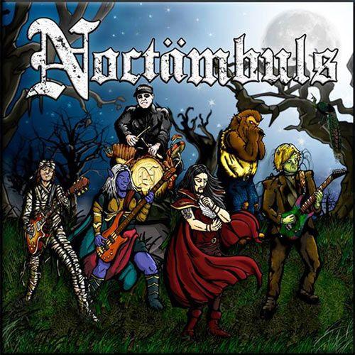 Portada del primer disco de la banda de rock en catalán Noctämbuls: Noctämbuls