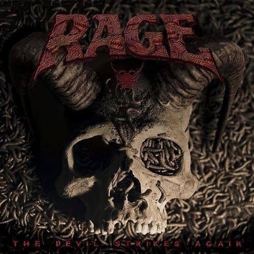 Portada del nuevo lanzamiento discográfico de Rage 'The Devil Strikes Again' (2016)