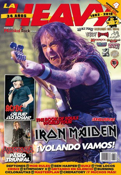 Portada revista La Heavy 382 con Iron Maiden
