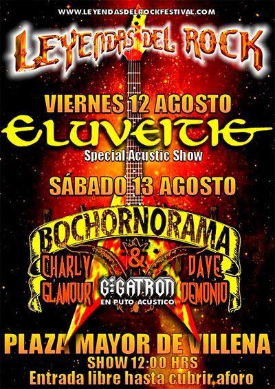 La banda suiza de folk metal y el grupo de heavy metal humorístico oriundo de Valencia actuarán en la Plaza Mayor de Villena