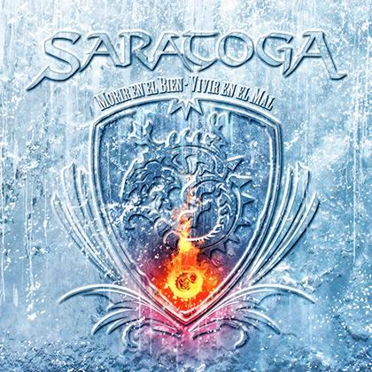Portada del nuevo disco de Saratoga 'Morir en el bien, vivir en el mal', el cual saldrá a la venta el 13 de mayo de 2016 vía Maldito Records