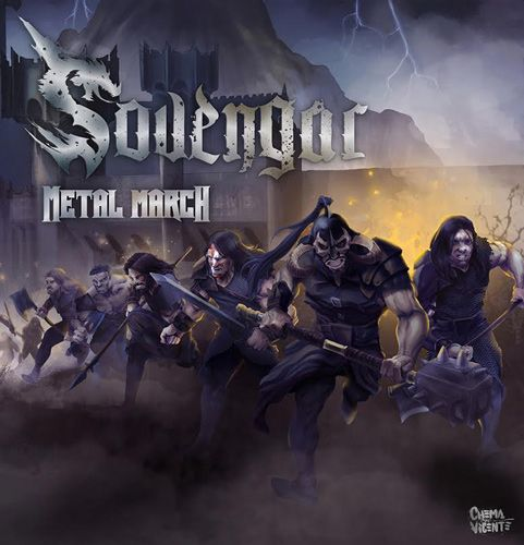 Portada del nuevo disco de Sovengar, 'Metal March', el cual saldrá a la venta en mayo