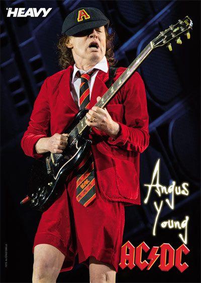 Poster Angus Young (AC/DC) Sevilla Estadio La Cartuja AXL/DC revista La Heavy