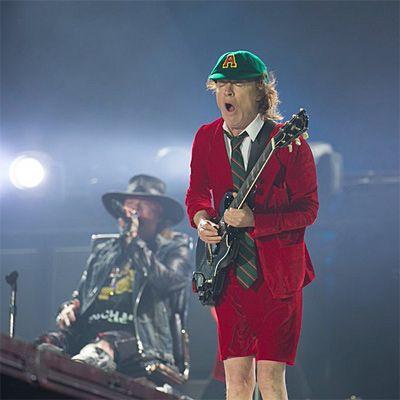 Angus Young AC/DC y Axl Rose Lisboa Portugal 07/05/16
