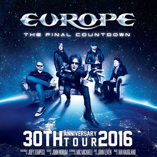 La gira de 'The Final Countdown' de Europe que pasará por España en 2016