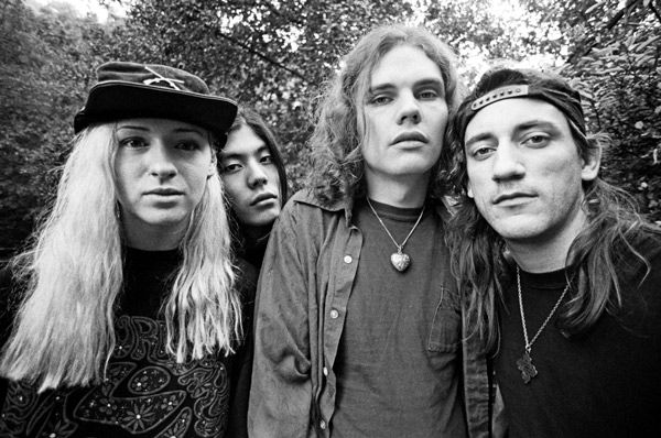 Formación original de Smashing Pumpkins con Billy Corgan al frente