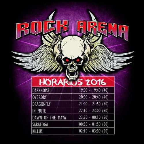 Distribución de grupos en la jornada del festival gratuito Rock Arena
