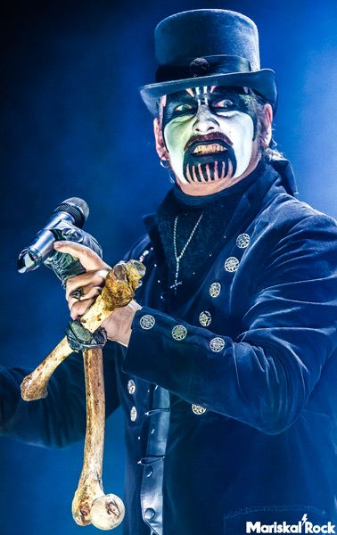 El vocalista y líder de King Diamond en el Graspop Metal Meeting