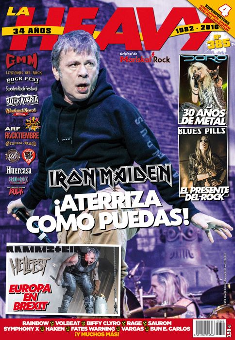La heavy 385 portada Iron Maiden
